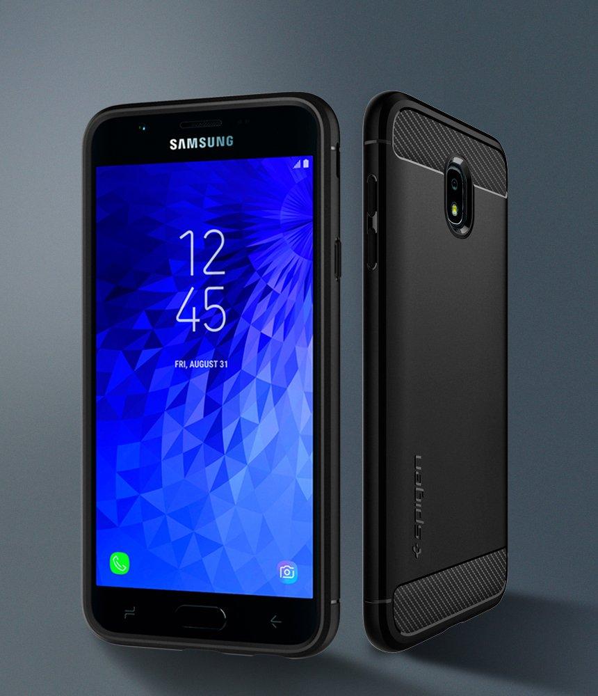 Spigen Rugged Armor Designed for Galaxy J7 Refine Case/Galaxy J7 2018 Case/Galaxy J7 Star Case - Black