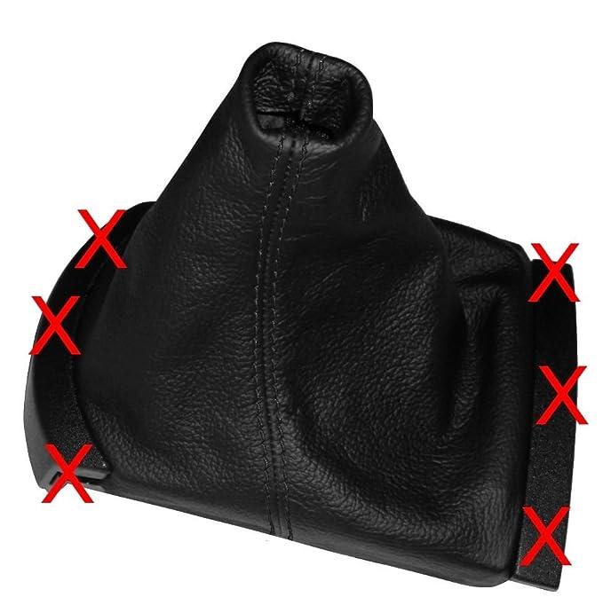 AERZETIX: Funda para palanca de cambios 100% Piel Genuina negro Costuras de color negro