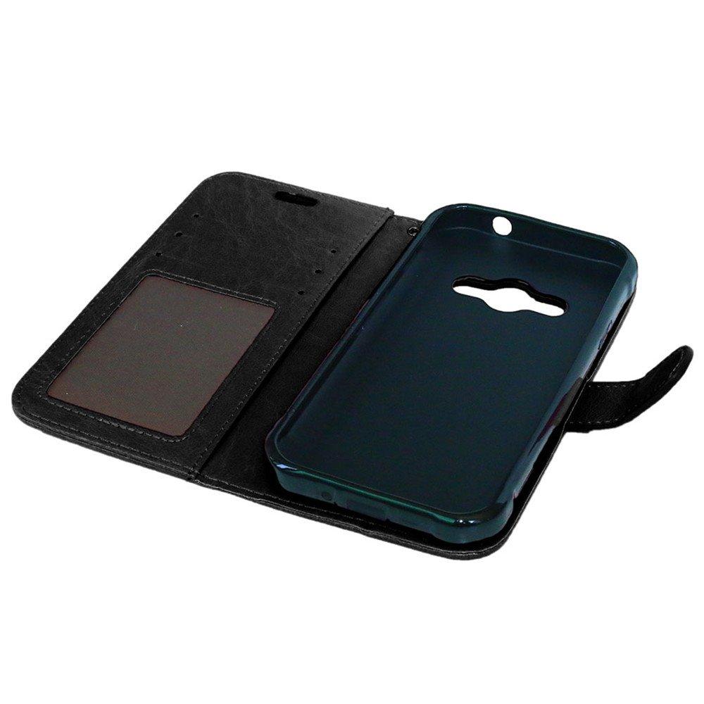 4,5 Zoll Karten Slot Foto Wallet H/ülle Lederh/ülle Neu Style Acht Farbe Weich PU Flip Case Ledertasche//Schutz Etui Nancen Compatible with Handyh/ülle Galaxy Xcover 3 // G388