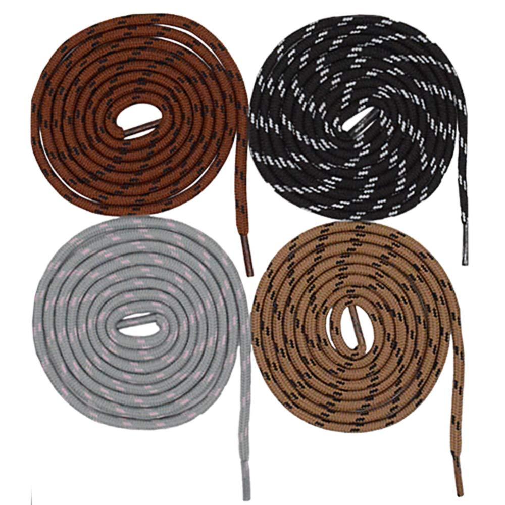 10 pares de cuerdas redondas fuertes puntos cordones de zapatos de reemplazo antideslizantes Trabajo pesado y duradero Escalada al aire libre Trekking Cadenas de cordones para botas de trabajo deporti