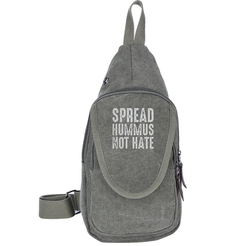 Spread Hummus Not Hate Fashion Men's Bosom Bag Cross Body New Style Men Canvas Chest Bags
