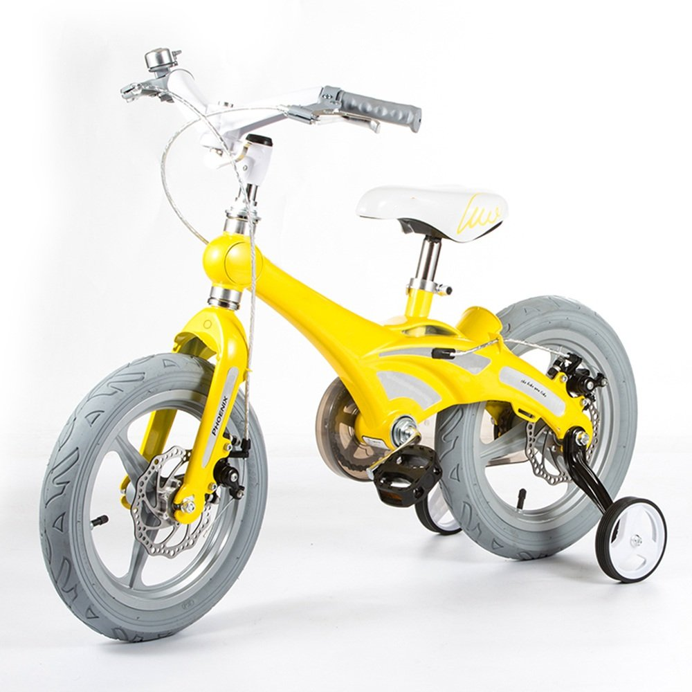 YANGFEI 子ども用自転車 子供の自転車男の子の自転車の女の子自転車の乳母車のベビーカー12/14/16インチの自転車マウンテンバイク子供の自転車2-8歳 212歳 B07DWT15LX 14 inch|イエロー いえろ゜ イエロー いえろ゜ 14 inch