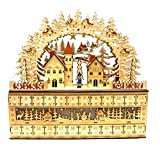 Bavarian Style Wooden Christmas Advent Calendar w/ Drawers (Alpine Village Scene)