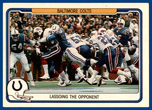1982 Fleer Team Action #4 Baltimore Colts -
