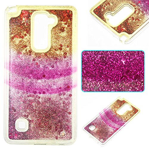 LG Stylo 2 Case,LG Stylus 2 Case,DAMONDY 3D Rainbow Cute Bling Flim Liquid Glitter Floating Quicksand Diamond Flowing Stars Ultra Soft TPU Case for LG Stylus 2 / G Stylo 2 (Gong Cases)