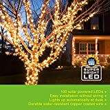 iMounTEK 100 LED Solar String Light, Copper Coated Wire, Water Resistant, Two Modes: Steady-on and Blinking - Warm White