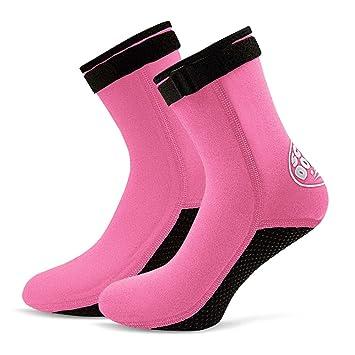 Lixada 3mm Neopreno Buceo Calcetines Botas Agua Zapatos Playa Botines Snorkel Buceo Botas Surf para Hombres Mujeres: Amazon.es: Deportes y aire libre