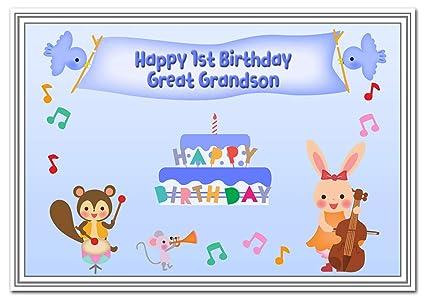 Tarjeta de primer cumpleaños para niños - Primera tarjeta 1 ...