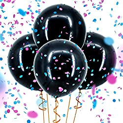 Sepco Gender Reveal Confetti Balloon Black