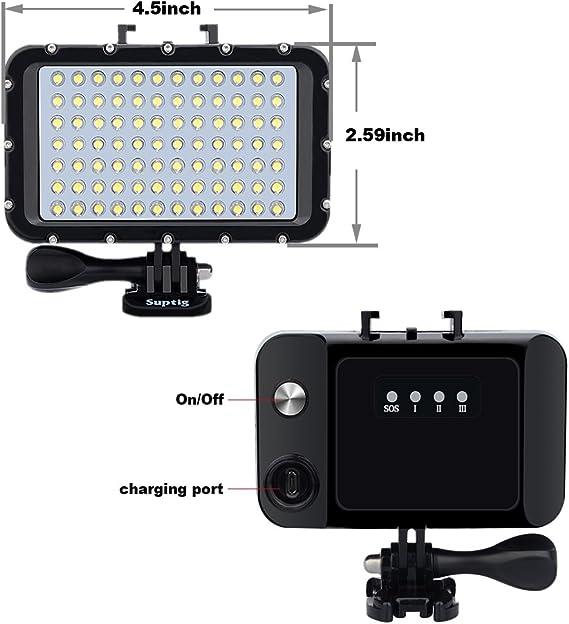 Suptig Unterwasserlichter Tauchlicht 84 Led High Power Kamera