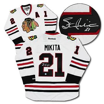 Stan Mikita Chicago Blackhawks Autographed White Reebok Hockey Jersey c90c6489b