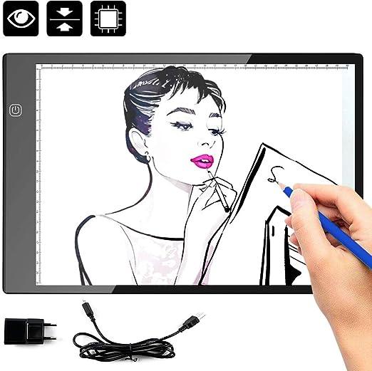 HINATAA Tablet Luminosa, A4 tamaño Pad para Dibujar (Tatuaje ...