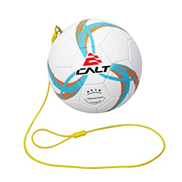 ball with string. calt training soccer ball size 3 for kids age 3-12 years old with string c