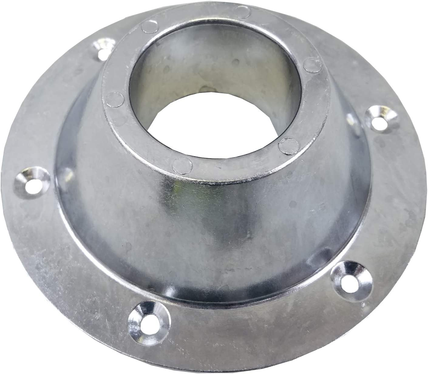 Hengs 31.5 RECESSED RV Chrome Straight Table Leg Kit 1 Leg - 1 Surface Mount - 1 Recessed Base Class A Customs