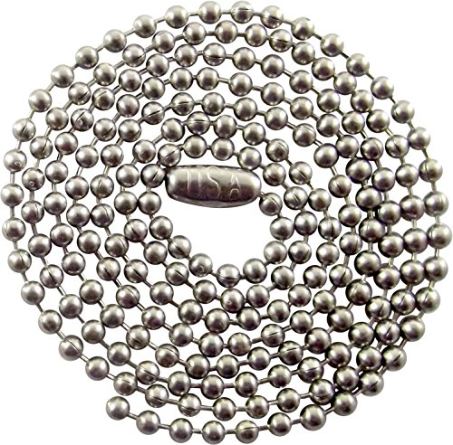 "30"" Inch Stainless Steel Ball Chain Necklace - 2.4mm - Military Dog Tag Necklace"