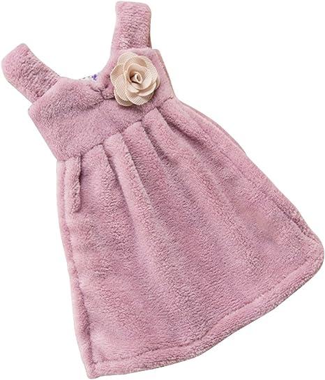 Cute Hanging Hand Towels Bathroom Kitchen Towel  Velvet Absorbent Cloth New