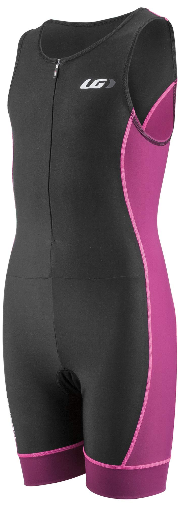 Louis Garneau Kids Comp 2 Sleeveless, Padded Triathlon Cycling Suit, Magenta Purple, Junior X-Small