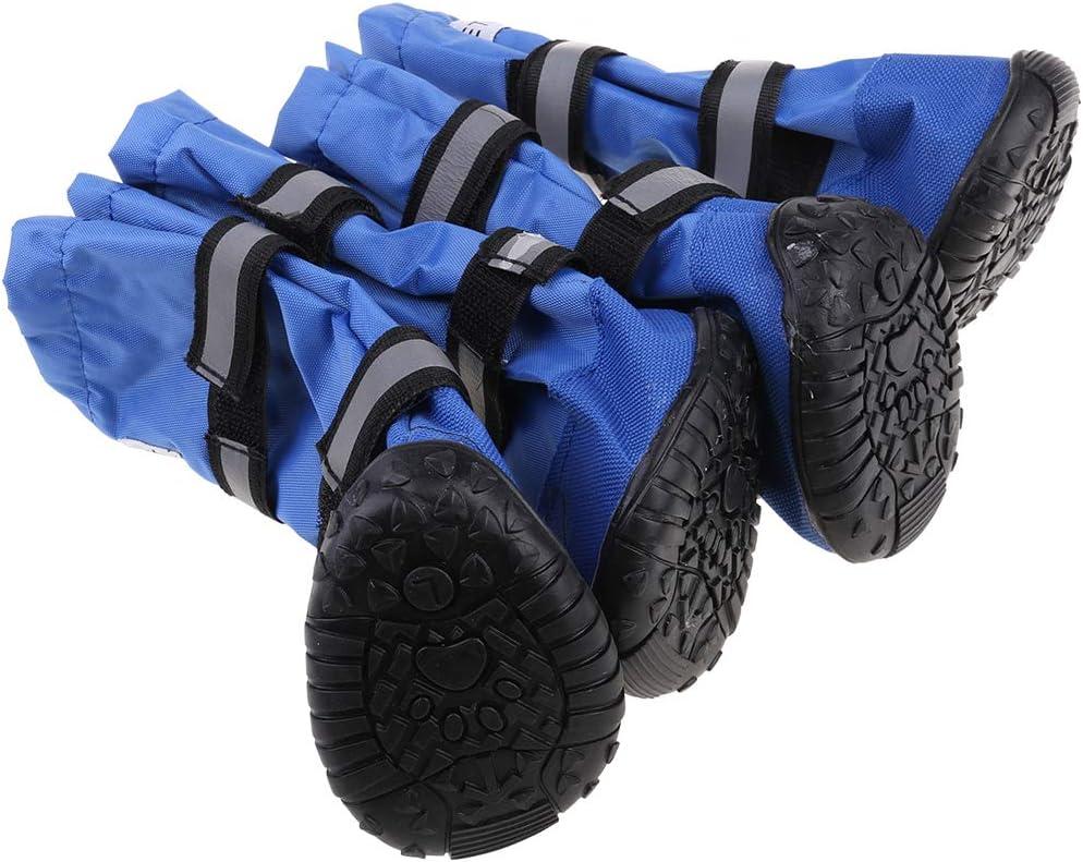 M # Dark JOYKK Zapatos Deportivos Grandes Antideslizantes para Perros Grandes Botas Impermeables para Mascotas para Perros de Invierno