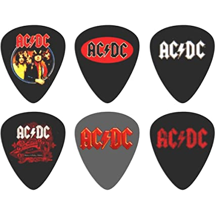 AC//DC Plectrum Pack Guitar pick x 5 Band logo Highway to Hell new Official One