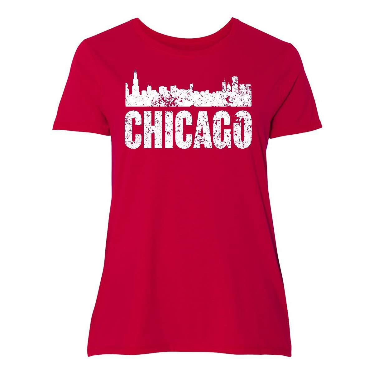 Chicago Skyline Grunge Plus T Shirt 355ba 7136