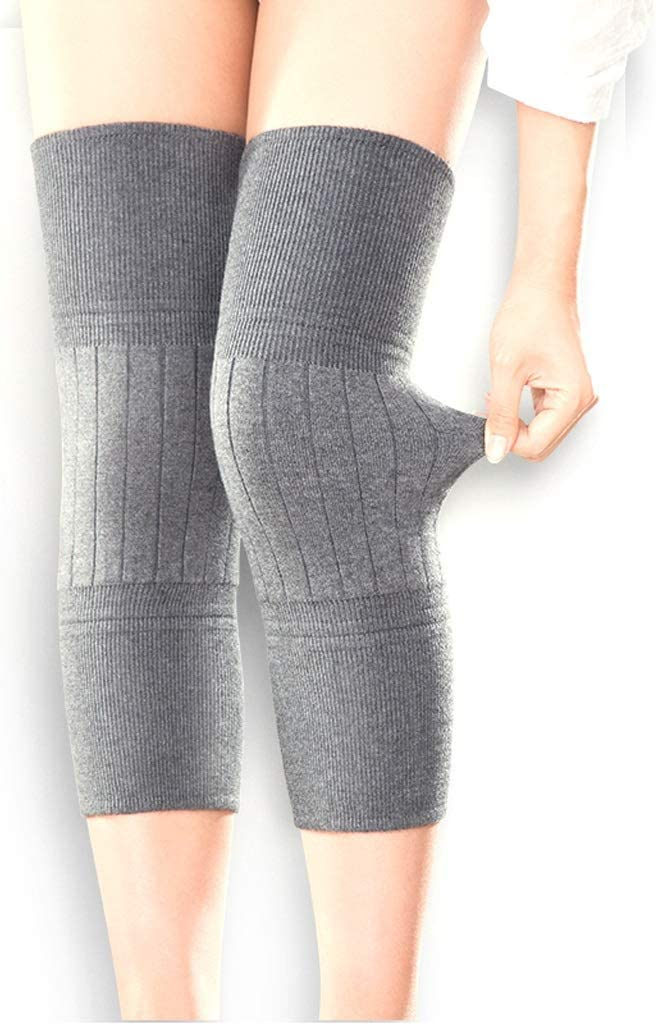 HUA BEI 膝パッド Kneepad - カシミヤ織保護膝暖かい男性と女性の冬の肥厚老人風邪レギンスペイント摩耗関節自己発熱 @@ (色 : Gray) Gray