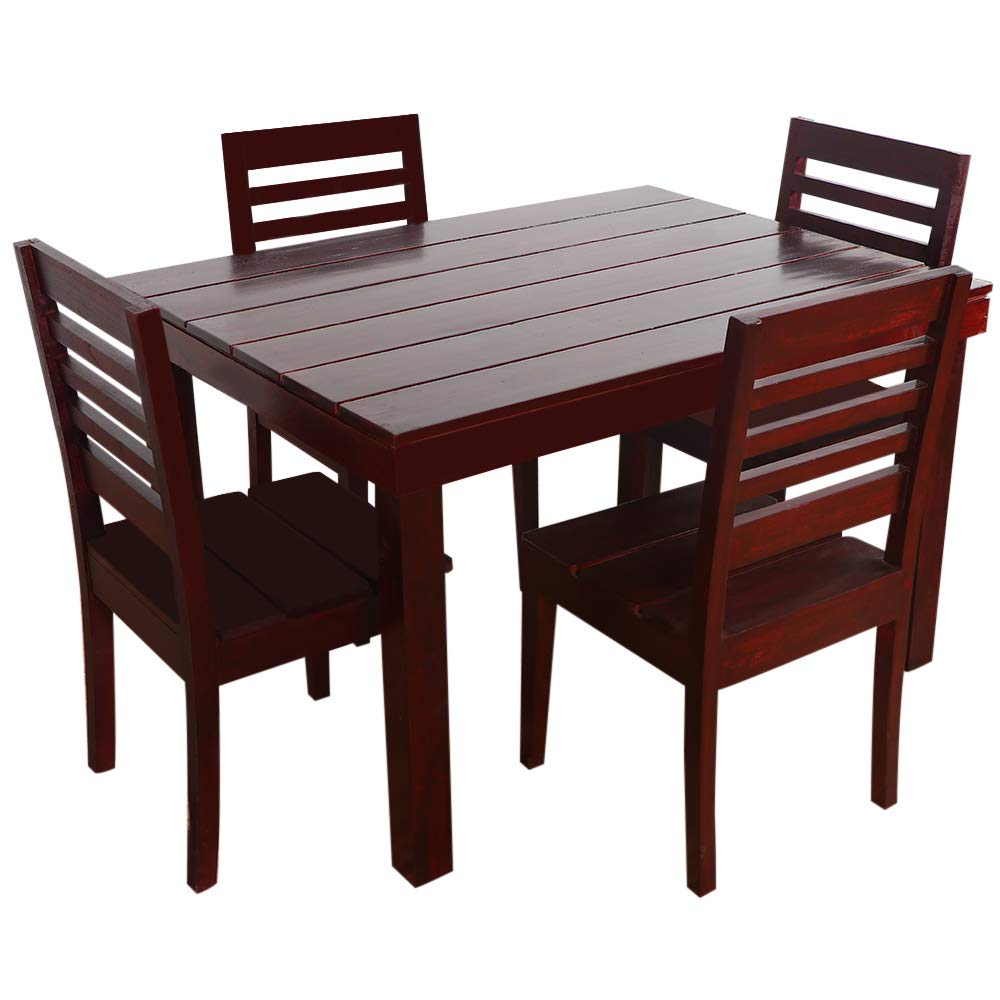 Furny Asian Solid Wood (Teak Wood) 4 Seater Dining Table -