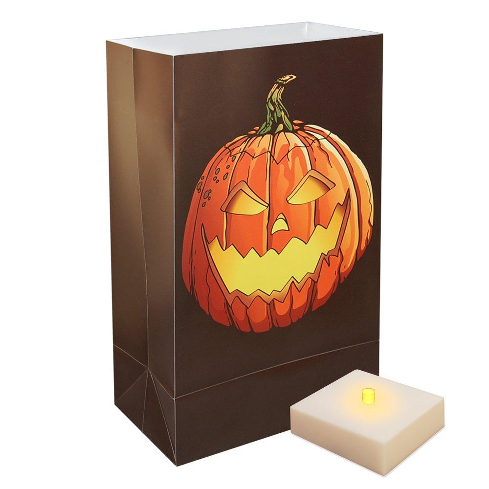 Jack O' Lantern Luminaria Kit (Set of 12)