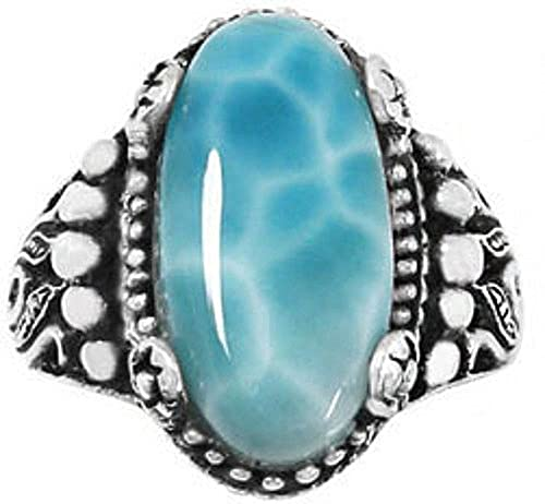 Sterling Silver Ring with Larimar BTS-NRB5215 LR