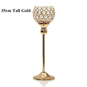 Crystal Tealight Votive Candle Holder Candlestick Party Centerpieces Stand Decor