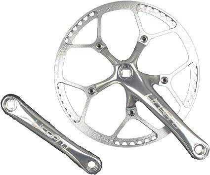 Single Speed Crankset Set 53T 170mm Crankarms 130 BCD Litepro Folding Bike with