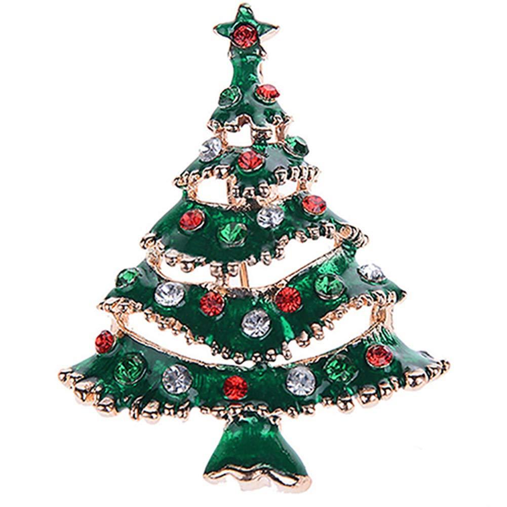 Momangel Multicolor Christmas Santa Sock Snowman Xmas Tree Shape Brooch Pin Women Scarf Clothes Badge Jewelry Xmas Gift