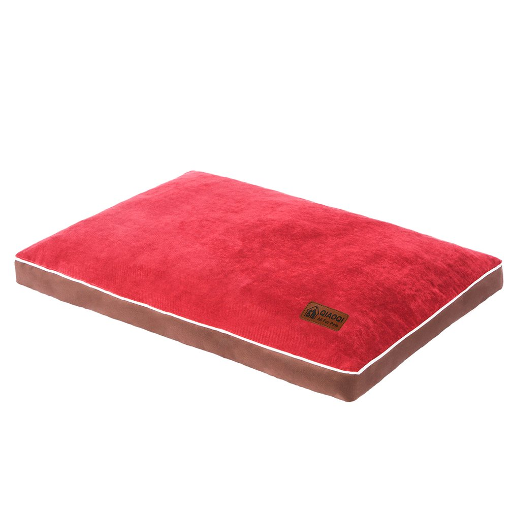 QIAOQI Dog Bed Delux Orthopedic Pet Cushion Mattress for Dogs and Cats Medium Wine Red by QIAOQI (Image #5)