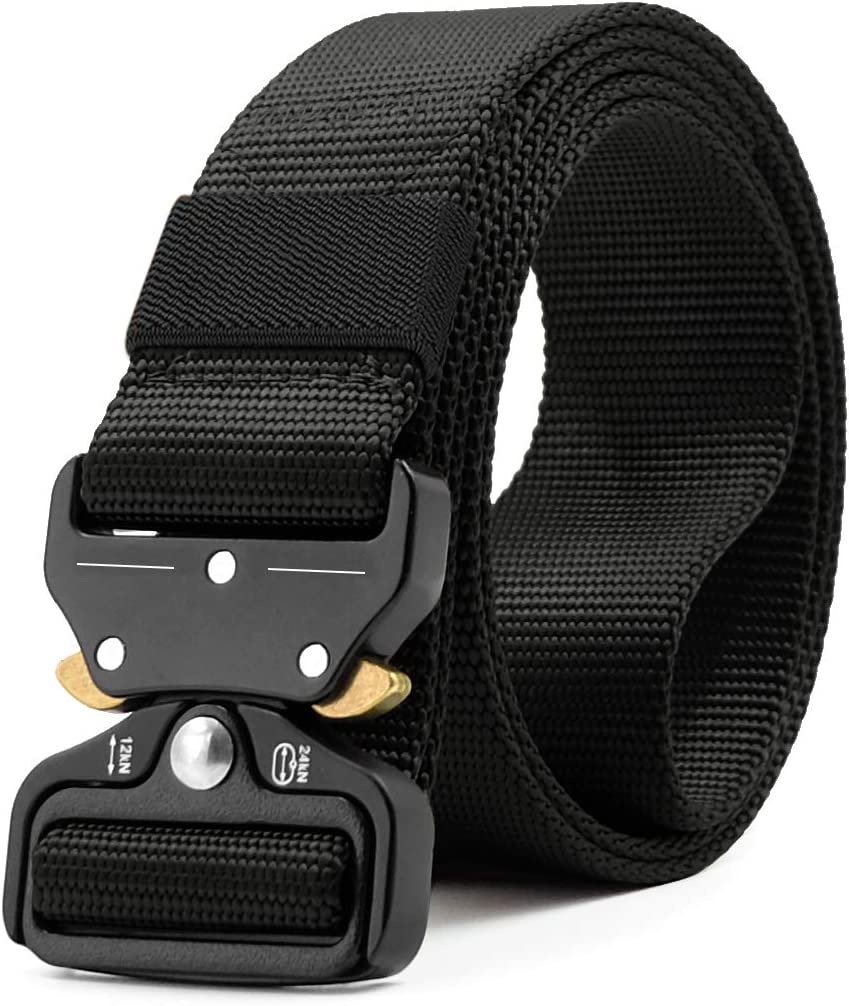 Mens Tactical Rigger/'s Belt Military Training Heavy Duty Nylon Quick Release