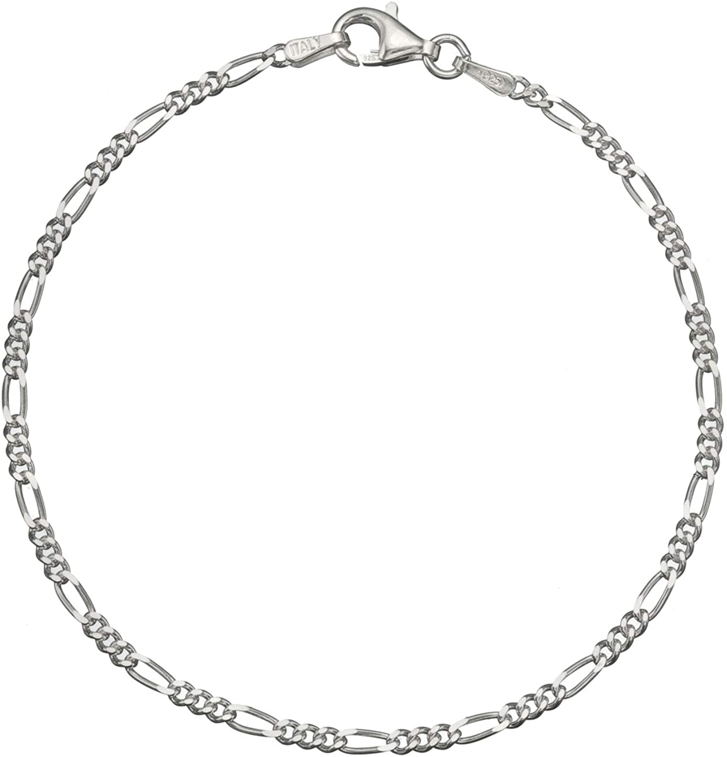 Sales for sale Sterling Deluxe Silver 2.2mm Italian Diamond Anklet 9