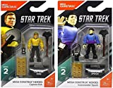 Bundle of 2: Mega Construx Heroes Series 2 Star Trek Captain Kirk and Commander Spock Amok Time Mini Figures
