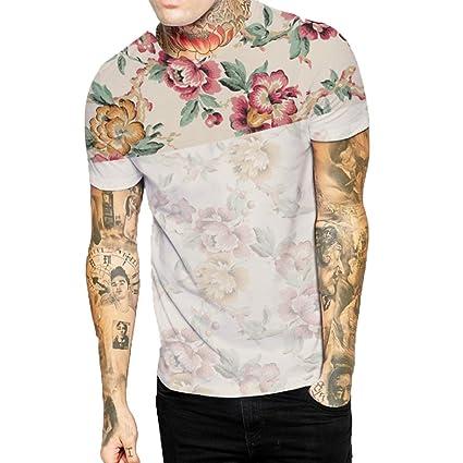 Camiseta estampado de hombre manga corta,Sonnena ❤ Chaleco casual para hombres estampado de
