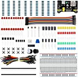 LAFVIN Electronic Fun Kit Bundle with Power Supply Module, Breadboard, Resistor, Capacitor, LED, Potentiometer Compatible wit