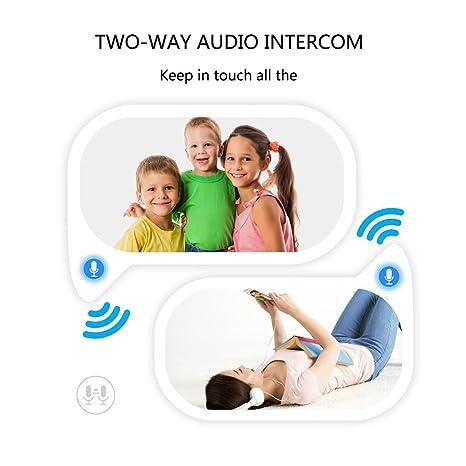 IMATEK Cámara IP HD, cámara de vigilancia con Wi-Fi, cámara panorámica de 360 Grados (Ojo de pez), cámara de Seguridad inalámbrica con visión Nocturna y ...