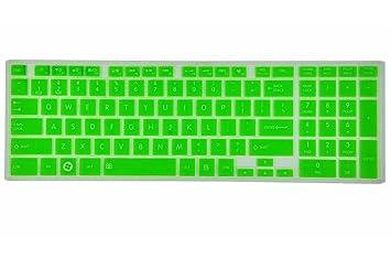 Semi-Green Protector Ultra fino de teclado de silicona piel para Toshiba Satellite C50-