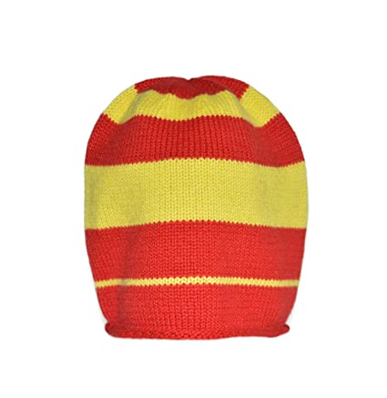 98dbe75d1eaed2 Invisible World Women's Men's 100% Cashmere Beanie Striped Knit Cap Blue at  Amazon Women's Clothing store: