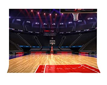 Lylycty 7x5ft Basketball Court Backdrop High End Luxury Indoor Basketball Court Sports Theme Photography Backdrop Sports Club Photography Background