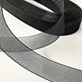 """Top Trimming Black Stiff Polyester Horsehair Braid, Selling per Roll (1"""" inch Wide) 42 Yards/roll"""