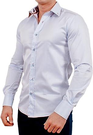 Wam Denim - Camisa casual - con botones - para hombre azul ...