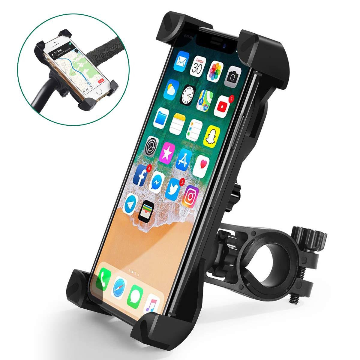 GPS y 3.5-6.5 Dispositivos Xiaomi RedMi Note 9 OMERIL Soporte Movil Bicicleta y Moto Huawei P20 Anti Vibraci/ón Soporte Movil Bici Universal con 360/° Rotaci/ón para iPhone X//8//7 Samsung S9//S8