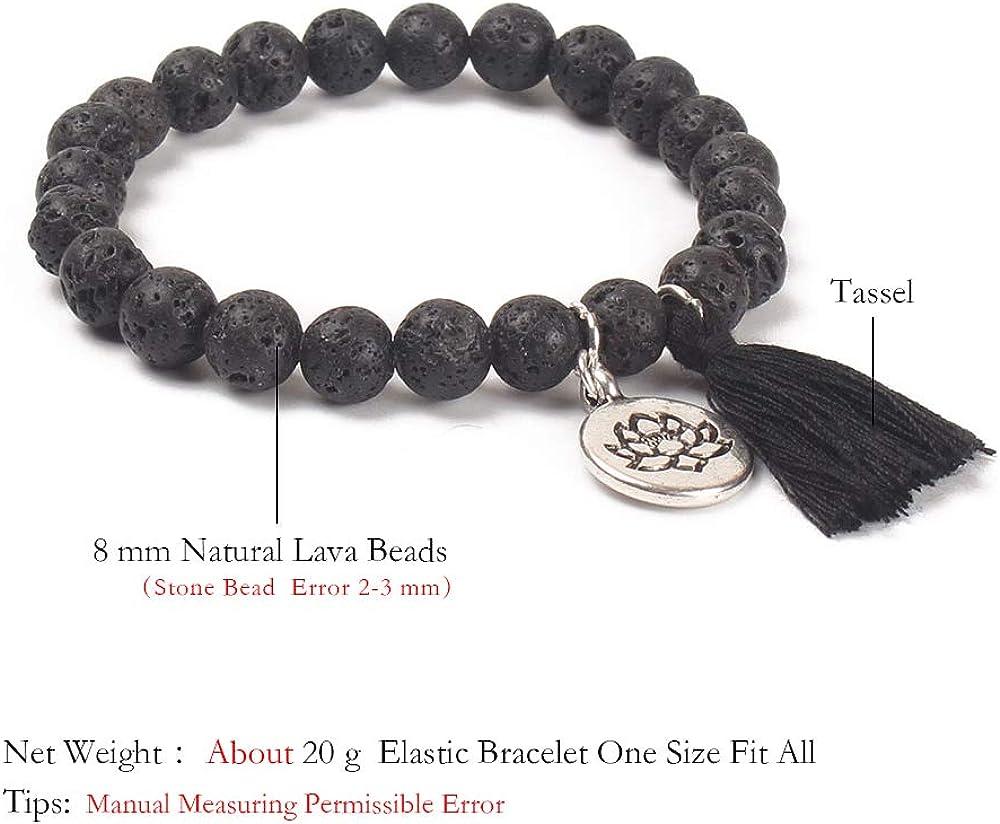 Strand Women BALIBALI Handmade Mala Beads Bracelet Natural Stone ...