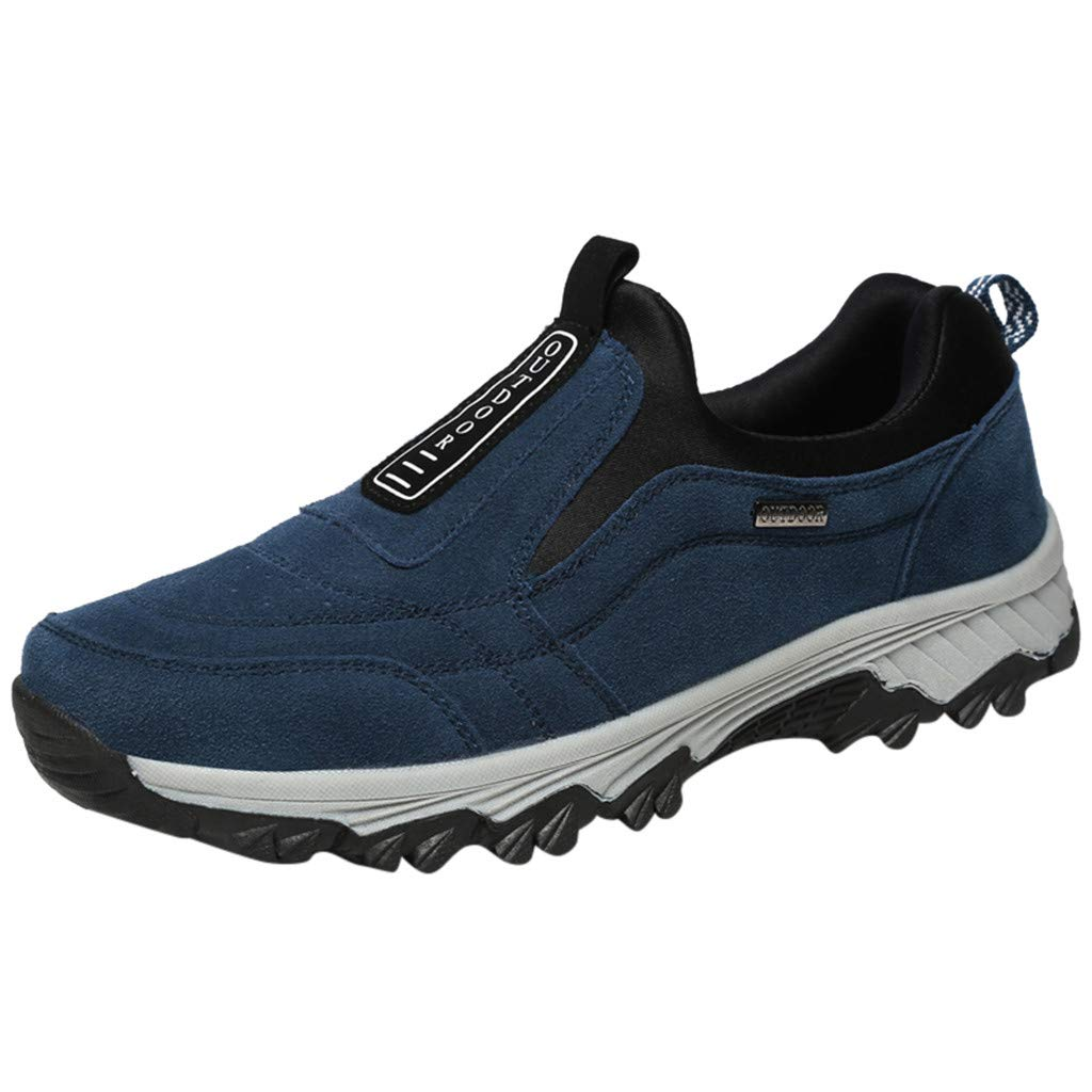2019 Men's Shoes New Mesh Running Hiking Basketball Sports Shoes are Breathable in Summer Shoe Blue by Alluing
