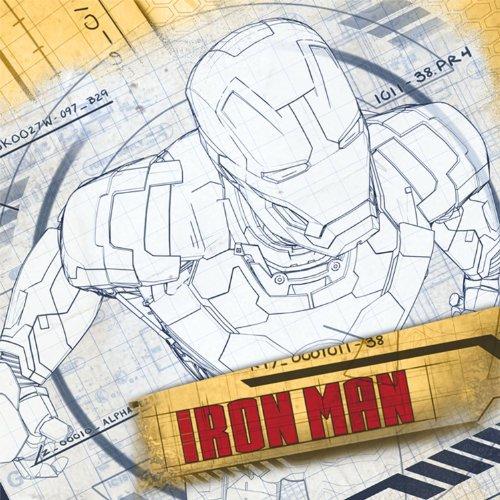 Iron Man 3 Large Napkins (16ct) (Best Of Iron Man 3)