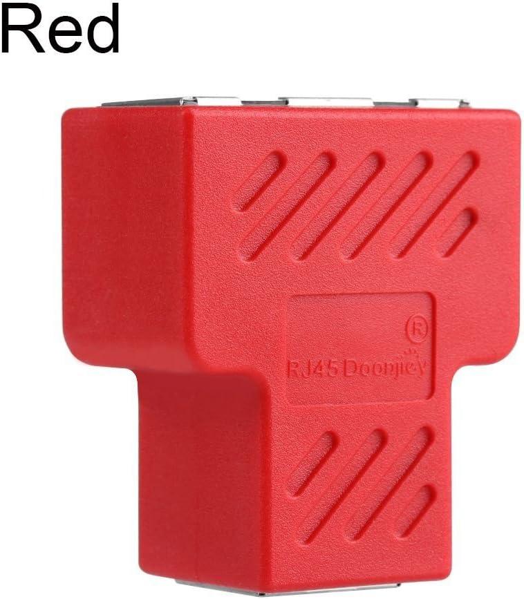 OPSLEA Cable Adapter Connector LAN Ethernet 1 a 2 v/ías Extender Plug RJ45 Splitter