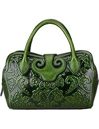 Designer Floral Leather Top Handle Handbag Tote Satchel Cross Body Bag 22119