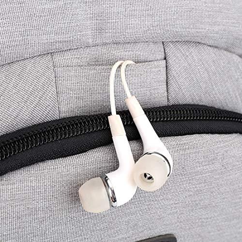 Gray color Con Simple Bolsa Multifuncional Usb Computadora Interfaz Viaje Olprkgdg Gray Pulgadas 17 Light Mochila De wg7A7801Z